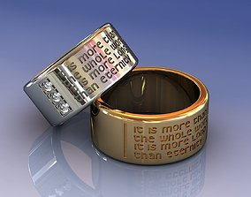 3D printable model Gold Wedding Ring Eternity