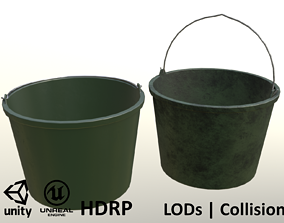 Plastic Garden Bucket 3D model