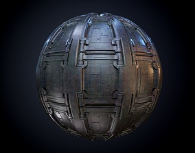 3D Sci-Fi Military Seamless PBR Texture 62