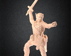 3D print model High elf paladin RPG Miniature - 1