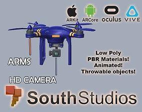 animated Animated Drone AR VR Unity 3dsmax