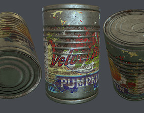 3D asset Grunge Aluminum Can Low Poly Game Ready PBR