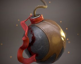 Fantasy bomb ball 3D model