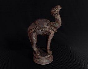 Wood Chess Pawn Handmade - Chessboard A - Black 3D asset 2