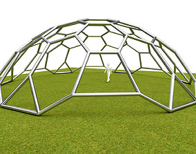 3D model Dome hexagon pattern cover structure architecture