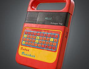 Digital Speller Toy 80s 3D model
