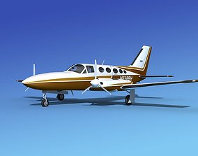 Cessna 414A Chancellor V02 3D model