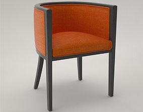 3D model Desk chair edith argentat