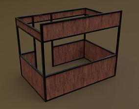 Stall stand 08 R 3D asset