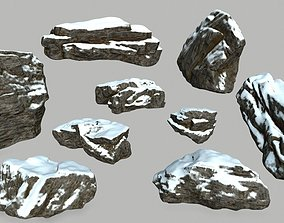 mosy 3D model realtime snow rocks