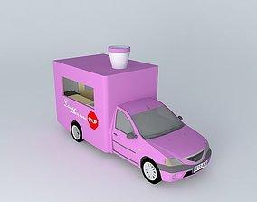 Dacia Logan Catering Truck 3D