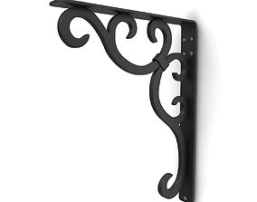 3D model Wrought iron shelf bracket