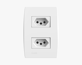 3D Siemens 2 Power Outlets