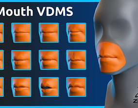 3D model Zbrush - Mouth - VDM Brushes