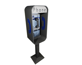 Simple American Style Payphone 3D model
