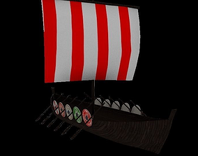 Viking Ship 3D asset