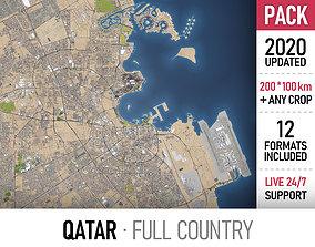 Qatar 3D model topography