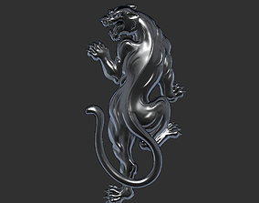 3D print model angry leopard