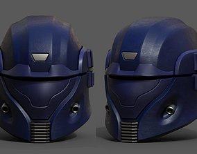 Helmet scifi space protection futuristic 3D asset