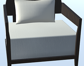 Lounge Comfortable Chair 3D asset