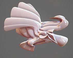 3D asset Magnificent Bird Abstract Sculpture