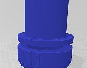 3D printable model piston cover