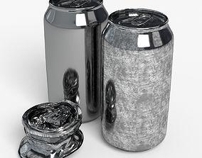 330ml beverage Open and Off Model Set 3D asset