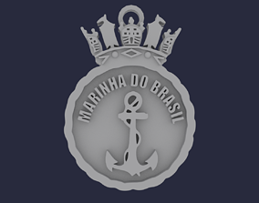 3D printable model Brazilian Navy Coat of Arms