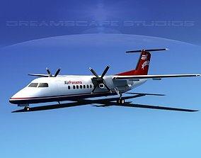 3D model DeHavilland DHC-8-Q300 Air Panama