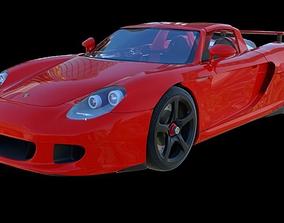 3D model rigged Porsche Carrera GT