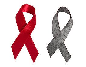 Red Ribbon I PBR Model 3D