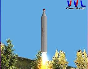3D model BM-25 Musudan Ballitic Missile