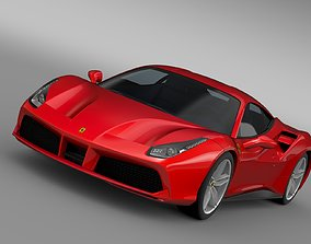 3D model Ferrari GTB 488 2015