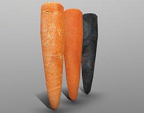 3D asset game-ready Carrot