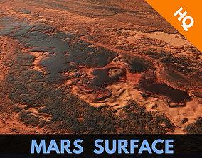3D asset Mars Surface Mountain Terrain Landscape Desert 1