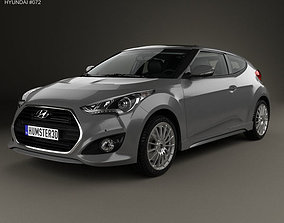 2016 3D Hyundai Veloster Turbo with HQ interior 2014