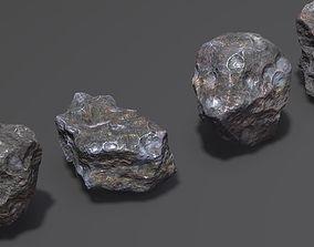 3D meteors rock stone