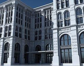 3D model Commercial Building Facade 21