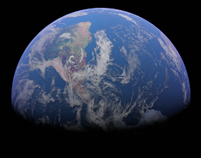 Earth Photorealistic 3D model game-ready