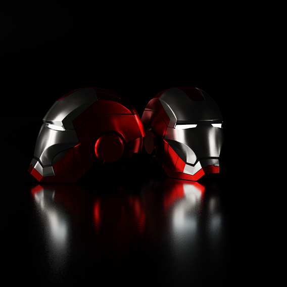 Iron Man Helmet (4K wallpaper)