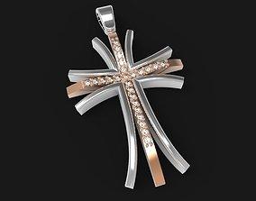 jewelry Cross Pendant 3D printable model