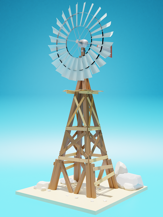 Low Poly Windmill