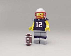 3D model LEGO Tom Brady figure