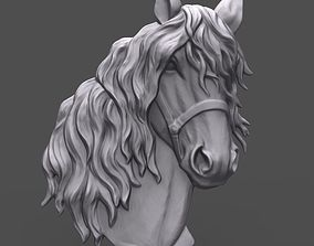 3D print model Horse head with harness bas relief for CNC