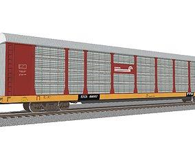 Train Car - Car Carrier - Conrail Autorack 3D model