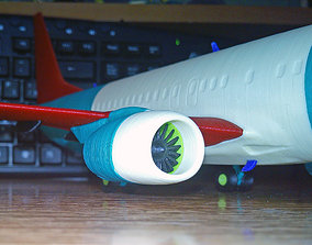 Boeing 737-800 no Winglet Landing gear down 3D printable