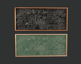 Math Chalkboard Game Ready 3D model