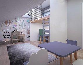 childroom 3D asset