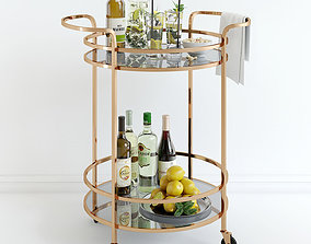 3D model Bar Cart Pottery Barn