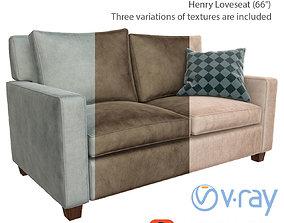 sofa Henry Loveseat West Elm 3D PBR